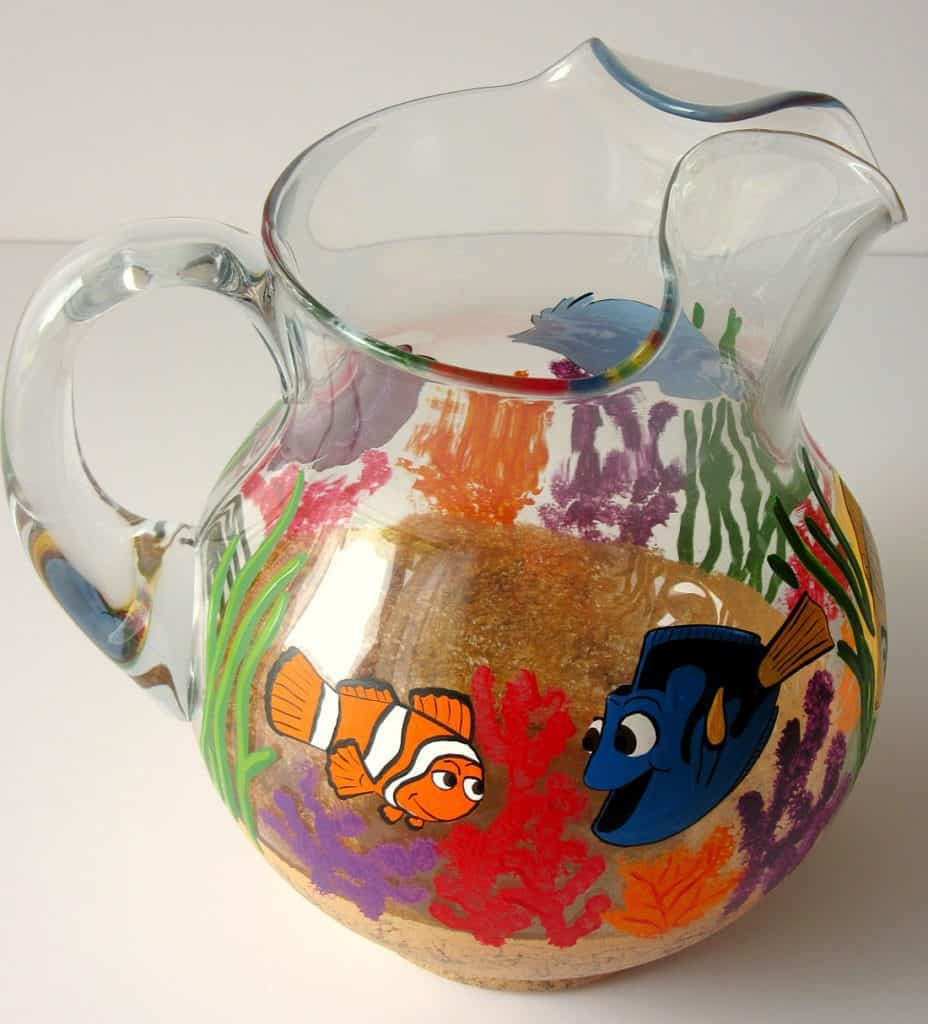 Hand Painted Finding Dory Pitcher
