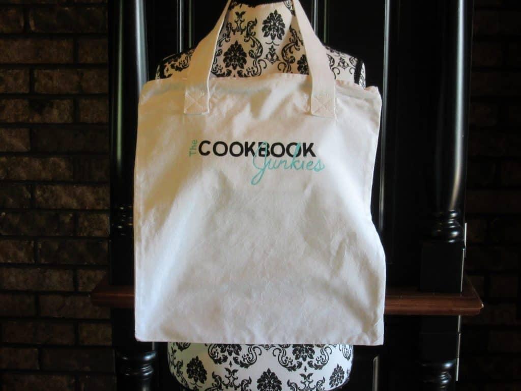 Cookbook Junkies Hand Painted Book Bag