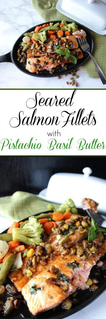 Seared Salmon Fillets with Basil Butter