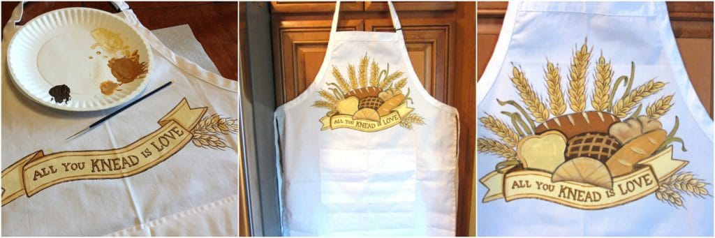 All you KNEAD is love. Hand painted bread bakers apron.