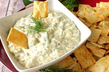 Flavor Packed Cucumber with Dill Pickle Dip