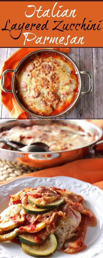 Layered Zucchini Parmesan Casserole - Kudos Kitchen by Renee