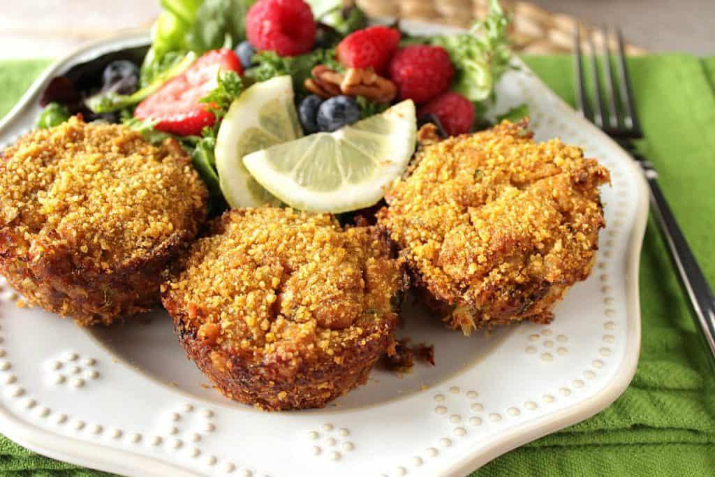 Crunchy Cornflake Muffin Tin Crab Cakes