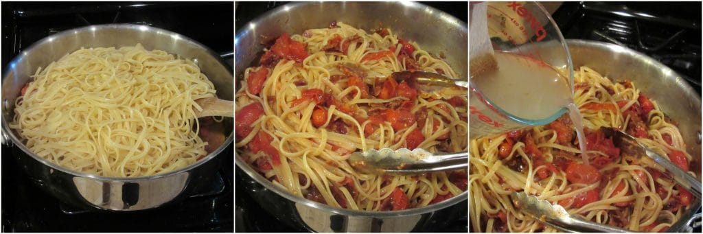 How to make linguine with bacon and tomato sauce. - www.kudoskitchenbyrenee.com