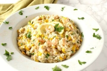 Creamy Risotto with Sweet Corn and Shrimp