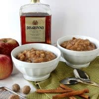 Slow Cooker Apple Pear Sauce with Amaretto