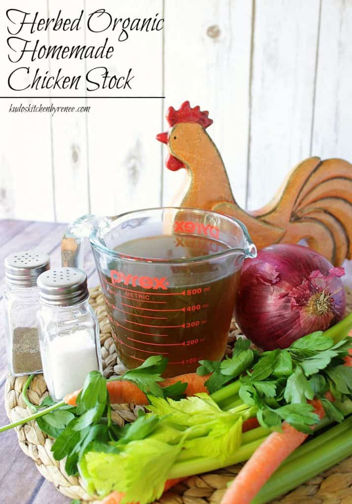 Delicious Herbed Organic Homemade Chicken Stock