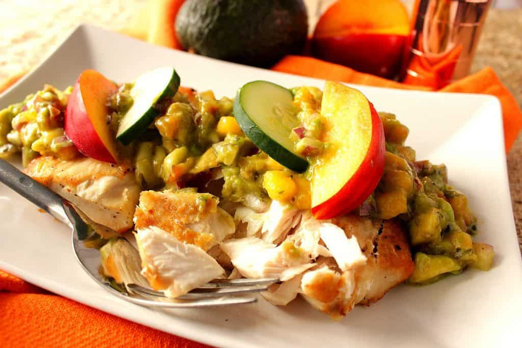 Healthy Mahi Mahi with Nectarine Avocado Salsa