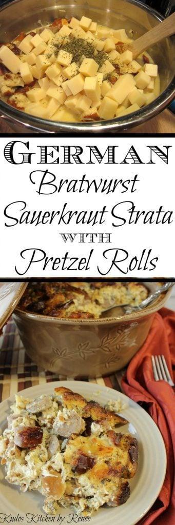 Savory German Bratwurst Strata