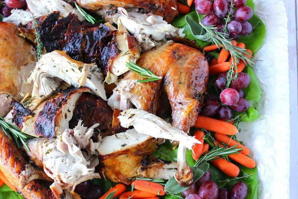 Balsamic-Basted Herbed Butter Roast Turkey