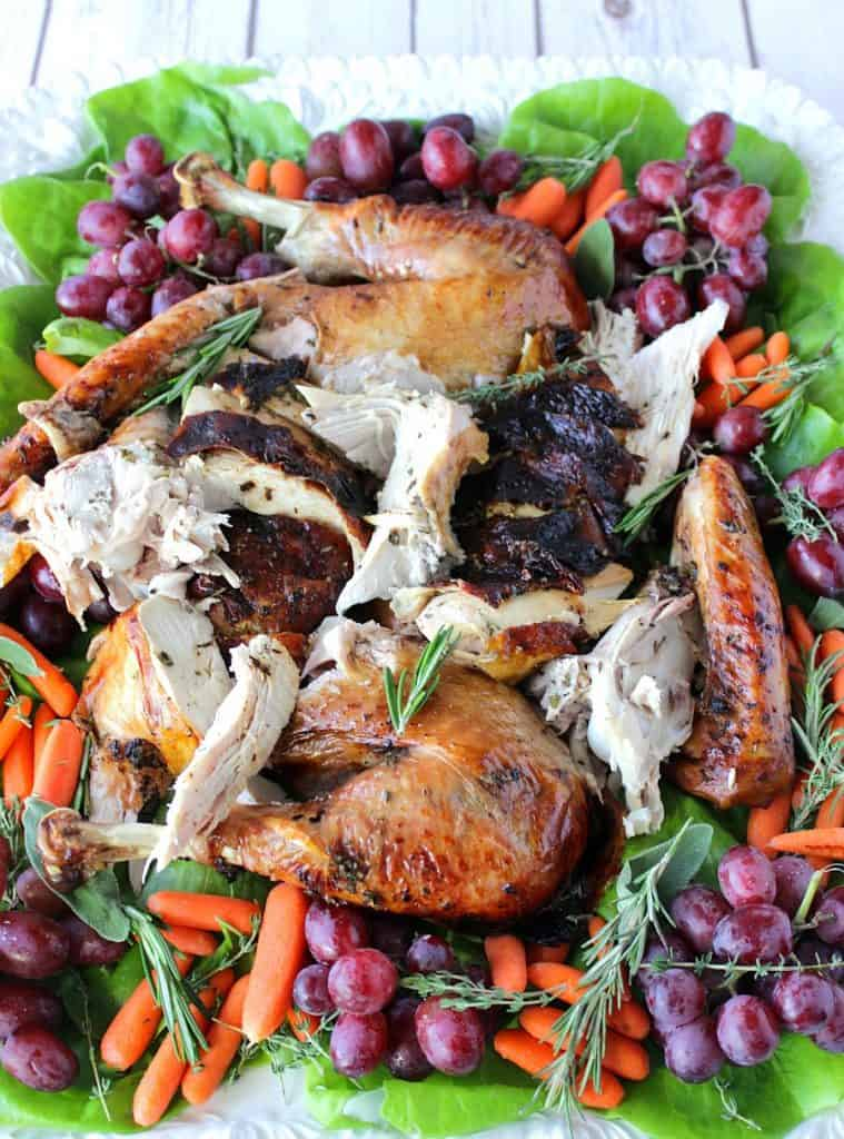 Balsamic Basted Herbed Butter Roast Turkey
