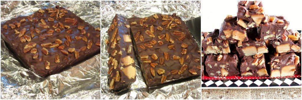 Chocolate Caramel Turtle Fudge Tutorial