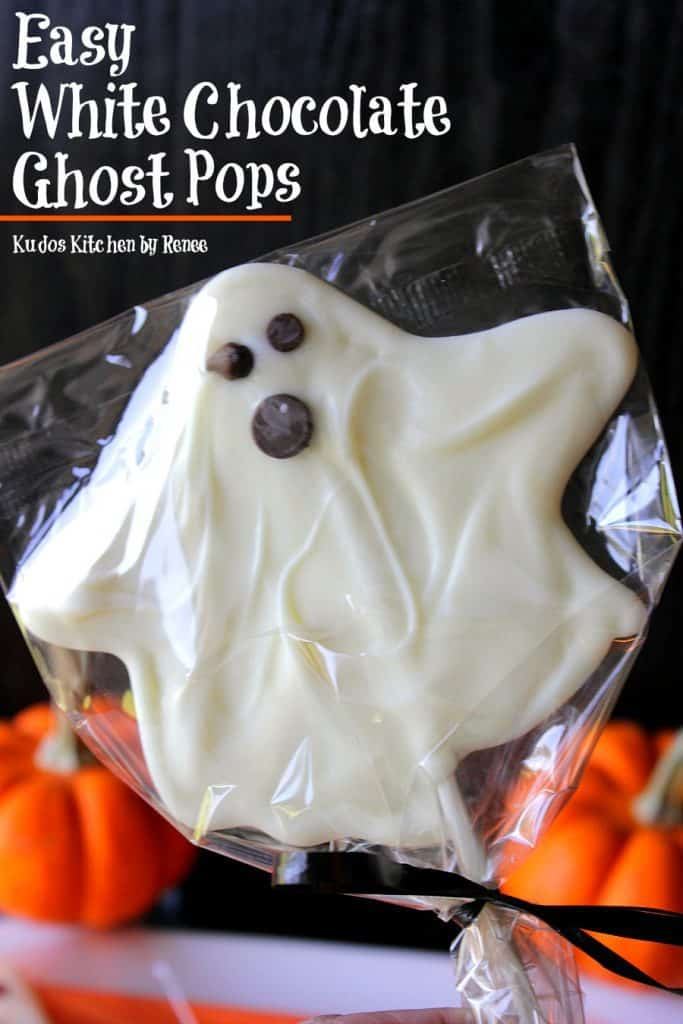 Delicious White Chocolate Ghost Pops