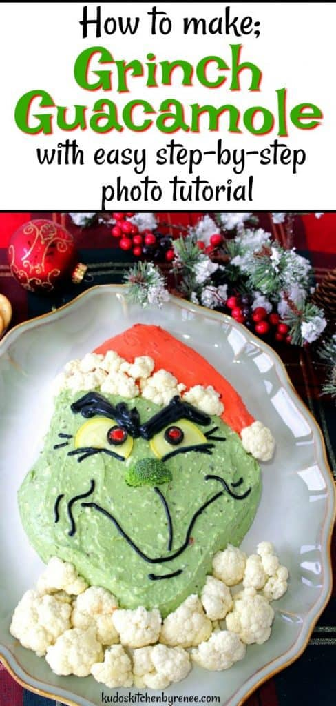 With a few simple ingredients and some easy instructions, you can warm the hearts of your family and friends with this gloriously easy to make realistic looking Grinch Guacamole. - kudoskithenbyrenee.com
