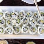 Sushi Rolls with Avocado and Shrimp