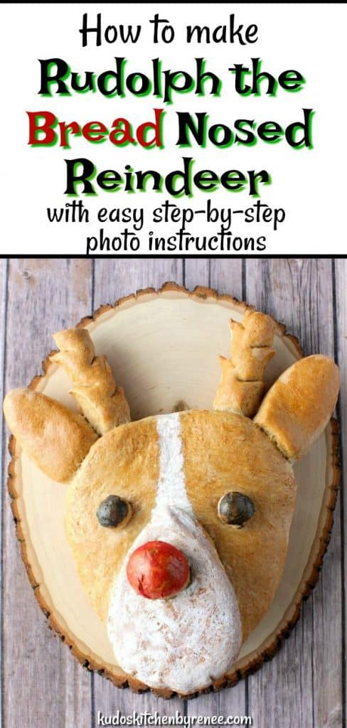 Whole Wheat Rudolph the Bread Nosed Reindeer - kudoskitchenbyrenee.com