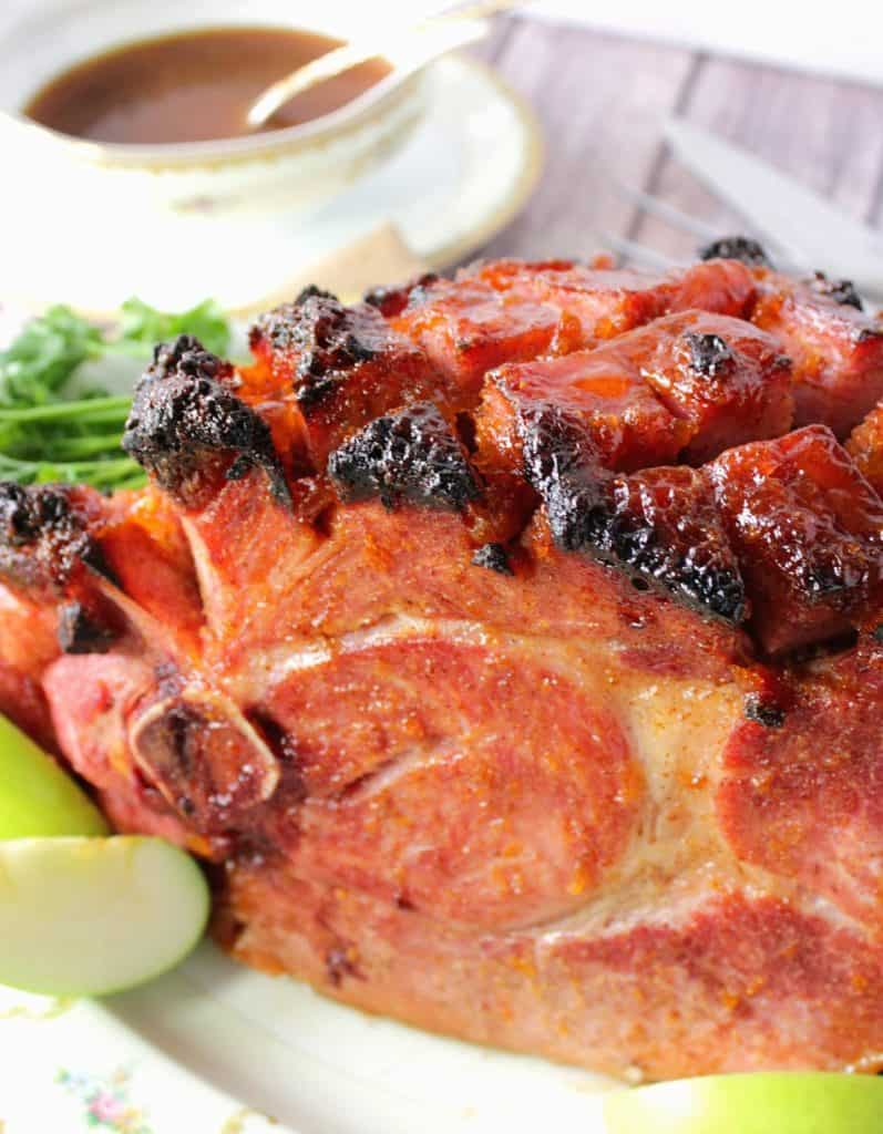 Apricot Glazed Ham with Mustard