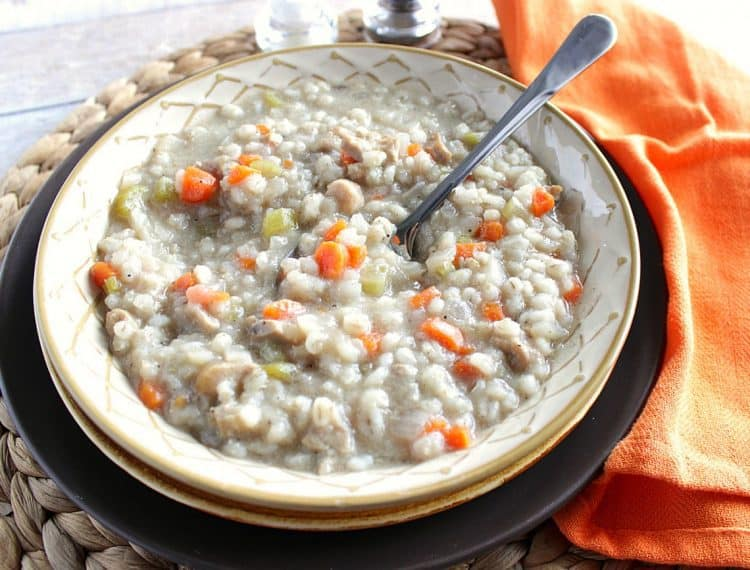 Healthy Homemade Chicken Barley Soup