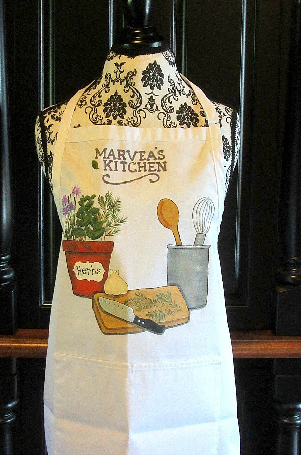 Hand Painted Herb Lovers Apron - Kudos Kitchen Paints