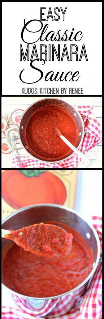 Easy Classic Marinara Sauce Recipe
