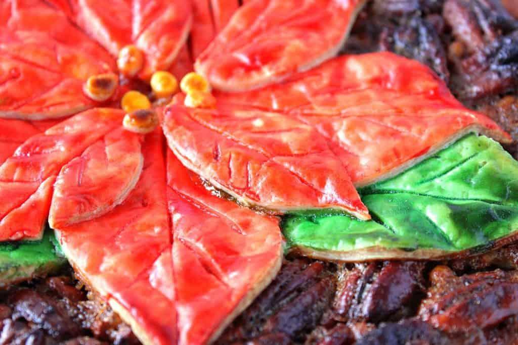 Painted Pie Crust Pecan Pie