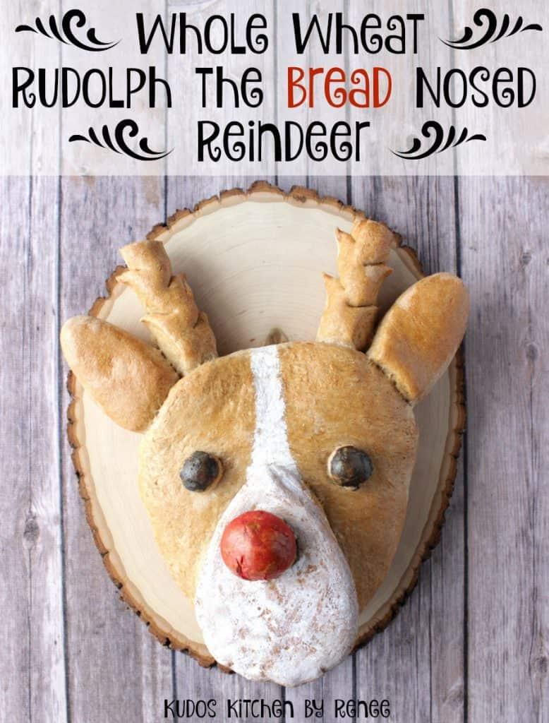 Rudolph Reindeer Shaped Bread