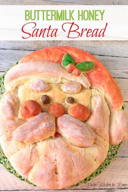 Santa shaped homemade buttermilk bread - kudoskitchenbyrenee.com