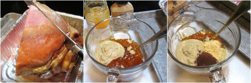 How to make Mustard Glazed Ham photo tutorial.
