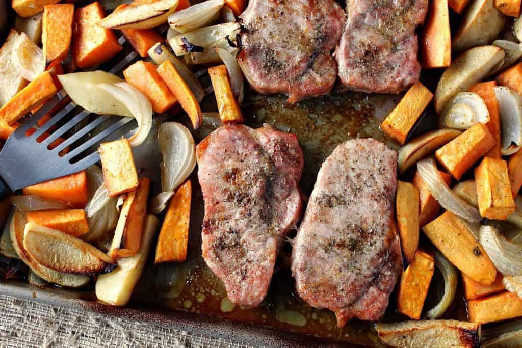 One Pan Ponzu Pork Chop Dinner | Kudos Kitchen by Renee