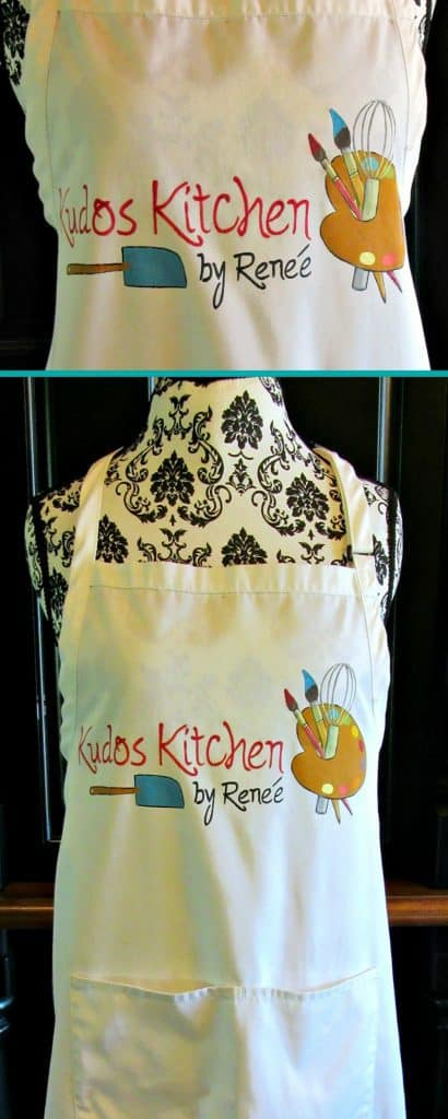 Kudos Kitchen by Renee hand painted apron
