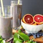 blood orange breakfast smoothie with blueberries