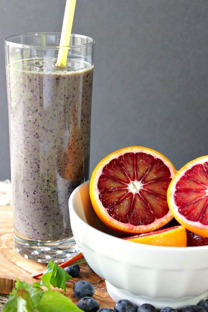 Blood Orange Blueberry Breakfast Smoothie