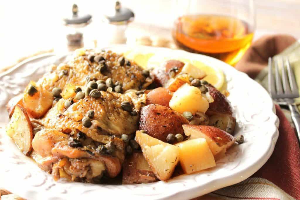 Chicken Vesuvio for the Slow Cooker