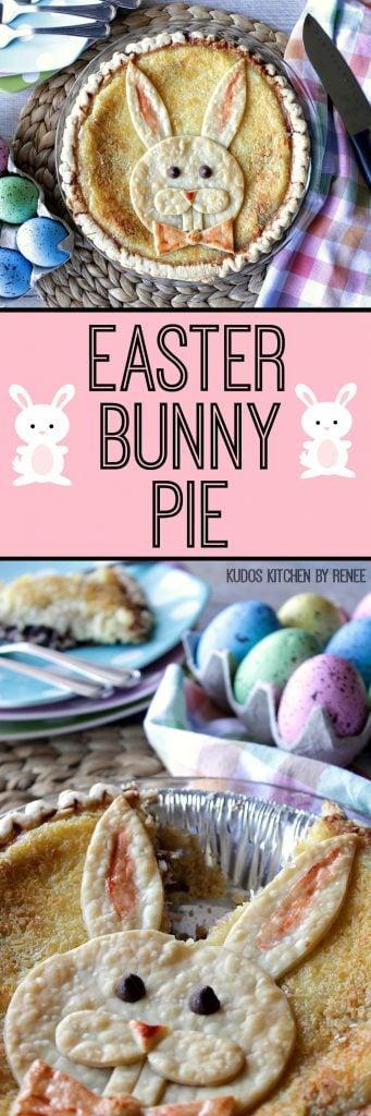 Coconut Custard Easter Bunny Pie