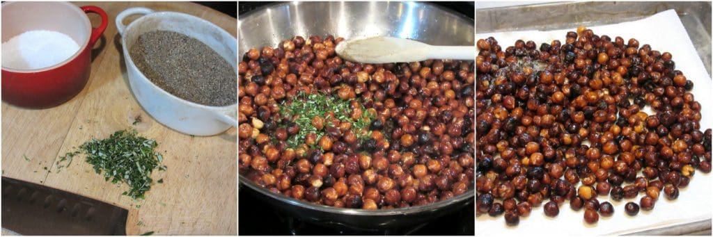 How to make roasted rosemary hazelnuts.