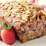 Strawberry Banana Bread with Almonds