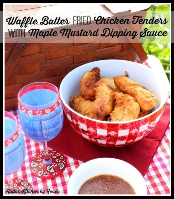 Waffle Batter Fried Chicken Tenders