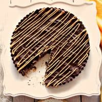 Giant Peanut Butter Cup with Toasted Coconut and Pecans