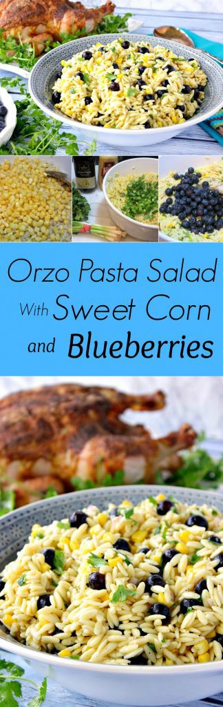 Orzo Pasta Salad With Sweet Corn and Blueberries
