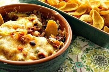Easy Cheesy Cinco de Mayo Mexican Bean Dip
