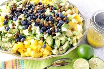 Avocado Mango Salad with Lime Poppy Seed Vinaigrette