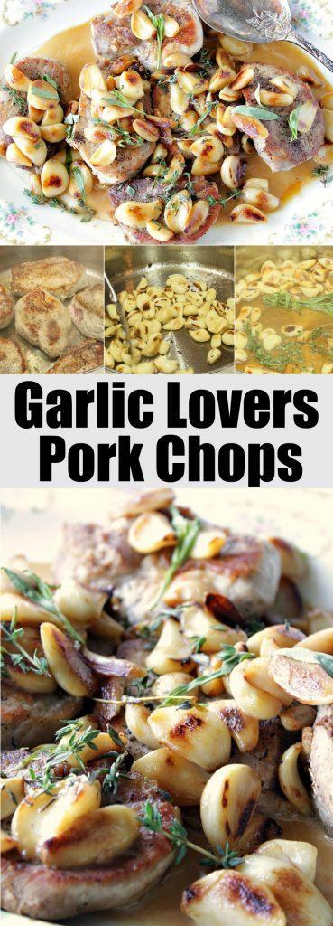 Mild and Sweet Garlic Lovers Pork Chops - kudoskitchenbyrenee.com