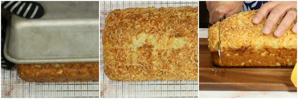 Tutorial for making Herb Parmesan Savory Quick Bread