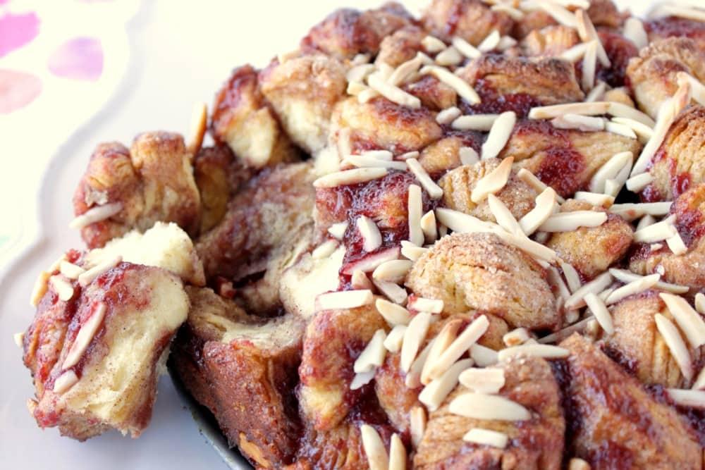 Easy to make Raspberry Spice Monkey Bread