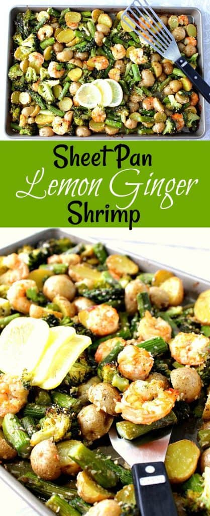 Sheet Pan Lemon Ginger Shrimp with Veggies and Potatoes