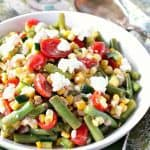 Summer's Best Farmer's Market Vegetable Salad with corn and green beans.