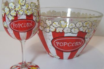 How I Make My Hand Painted Popcorn Bowls With A Video