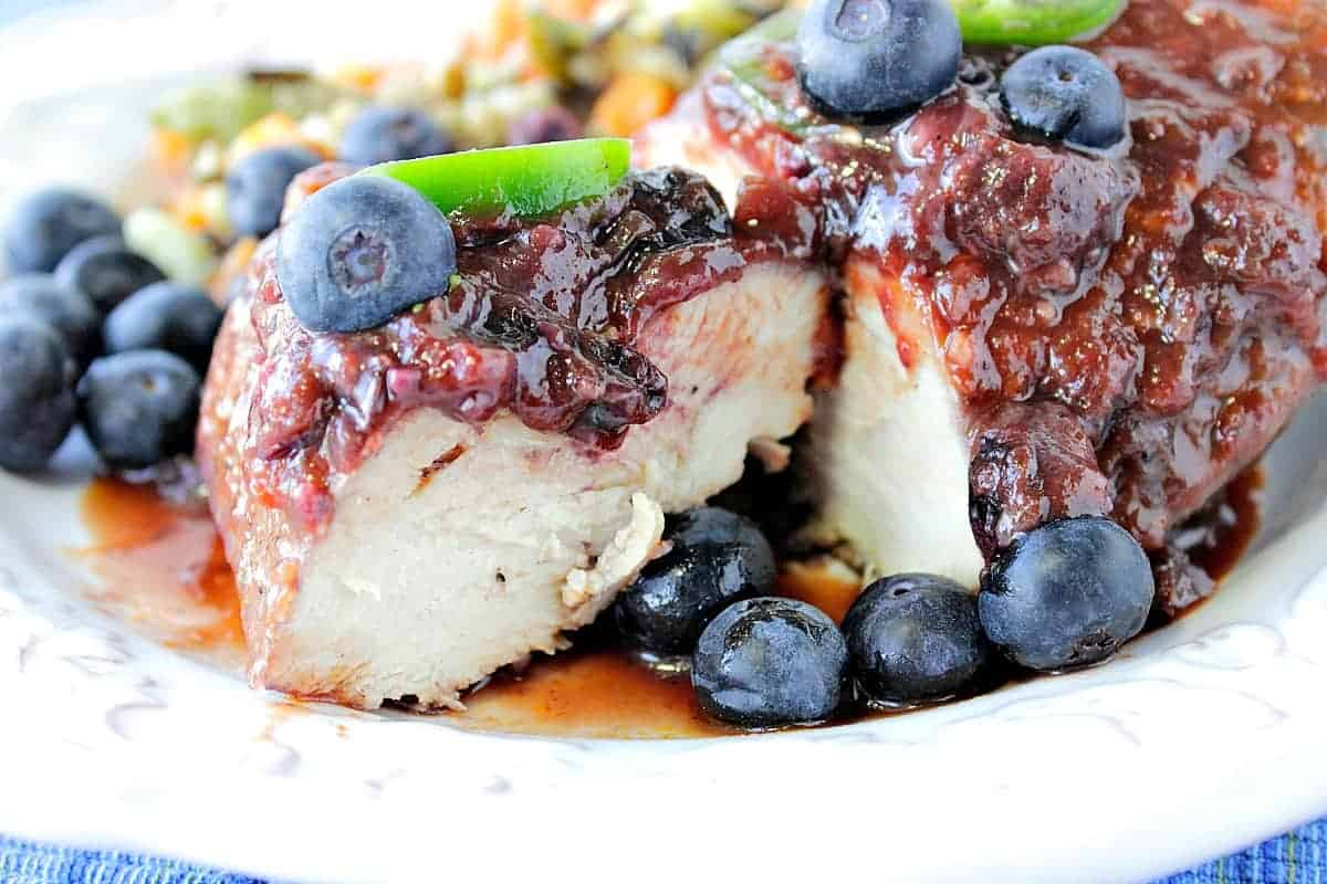 Blueberry Chile Chicken Skillet Dinner