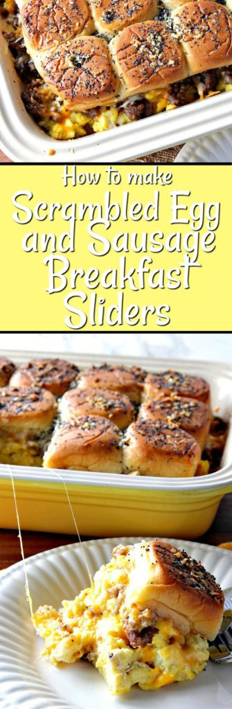 Looking to feed a large crowd or family a hearty breakfast that goes together in a snap and with minimal effort? These Breakfast Sliders with Scrambled Eggs and Sausage are just the ticket!