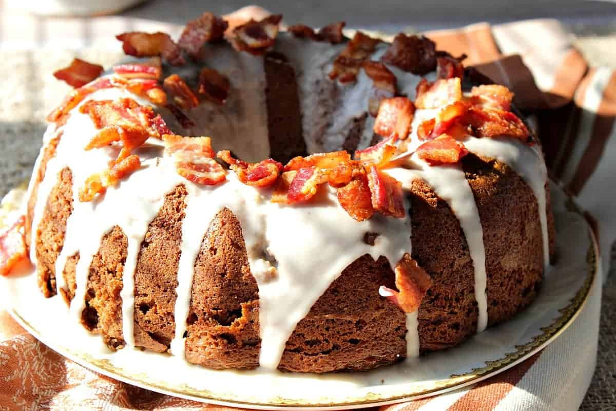 Unexpectedly Delicious Bacon Root Beer Bundt Cake